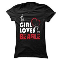 girl loves her beagle T-Shirts, Hoodies. BUY IT NOW ==► https://www.sunfrog.com/Pets/girl-loves-her-beagle-Black-7kk1-Ladies.html?id=41382
