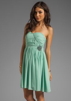 MM COUTURE BY MISS ME Sweetheart Neckline Dress With Embroidery in Mint at Revolve Clothing - Free Shipping!