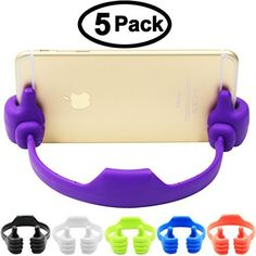 Foneda Cute Thumbs Up Adjustable TPU Flexible Mobile Cell Phone Tablet Computer Kindle Fire Display Stand Holder for Bed Desk, iPad Mini iPhone 7 6S Plus Samsung 7 S6 Edge 5 Pack. 1. UNIVERSAL - Holds smart phone or tablet with approximate span from 3 1/2 inch to 8 inch (90mm to 203mm), Thickness of device in case: NO more than 3/8 inch (10mm). 2. CUTE & FUN AS A TOY, BUT VERY FUNCTIONAL! - Cool!!!...cute, compact and effective!!! Unique thumbs-up design!!! It is a fun way to use it as...