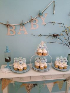 love the way they did the banner!   Photo 1 of 11: Birds/Nest / Baby Shower/Sip & See Birdie Baby Shower