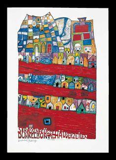 Hundertwasser Friedensreich Hundertwasser, Abstract Drawings, Abstract Art, Art Carte, Art Basics, Artists For Kids, Art Graphique, Mural Art, Grafik Design