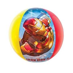 Iron Man 3 Inflatable Beach Ball by Swimways Boys Kids Children Ironman #Swimways