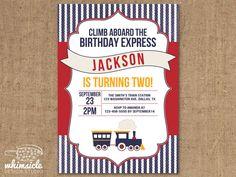 Train Invitation  DIY Printable  Birthday by whimsicledesign, $12.00