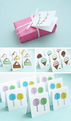 Mini tarjetas decorativas