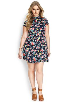 Garden Party Skater Dress | FOREVER21 #F21Plus I actually really like this