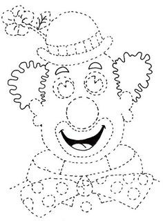 clown to color Clown Crafts, Carnival Crafts, Carnival Masks, Preschool Learning Activities, Educational Activities, Book Activities, Tracing Worksheets, Preschool Worksheets, Theme Carnaval