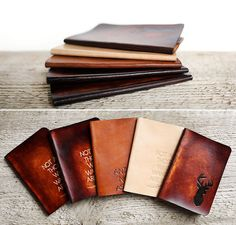 Leather Passport Holder Wallet Cover Case RFID Blocking Travel Wallet Pacific Sunset