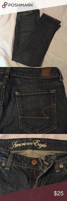 Never worn American Eagle Jeans! Brand new! Great dark color, no wears or tears! American Eagle Outfitters Jeans Straight Leg
