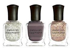 Deborah Lippmann gorgeous creme and glitter nail trio inspired by the galaxy