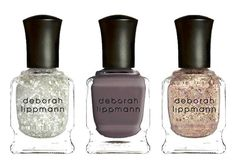 Deborah Lippmann gorgeous creme and glitter nail trio inspired by the galaxy