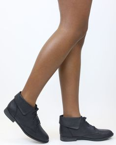 5b37c5eac8a Available in Black - Ankle bootie - Pointy toe - Lace up closure - Lightly  padded