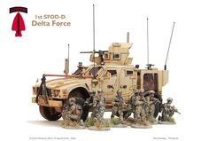 Delta Force Team, Empress Miniatures Special Forces figures and M-ATV