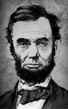 Abraham Lincoln as illustrated by artist Matthew Childers. For similar commissions please email matt@matthewchilders.com