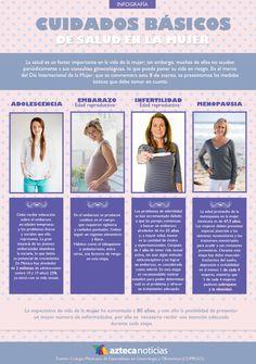Cuidados básicos en la salud de la mujer #infografia