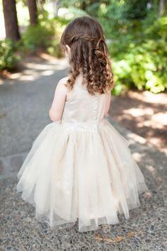 Adorable flower girl hair: http://www.stylemepretty.com/little-black-book-blog/2015/01/19/elegant-summer-napa-valley-wedding/   Photography: Megan Clouse - http://www.meganclouse.com/