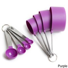 Cook's Corner 8 Piece Measuring Measuring Cups; 4 Measuring Spoons with Stainless Steel Handles (Orange)(Plastic) Cook's Corner 8 Piece Measuring Measuring Cups; 4 Measuring Spoons with Stainless Steel Handles (Purple)(Plastic) Cooking Gadgets, Cooking Tools, Kitchen Items, Kitchen Gadgets, Kitchen Dining, Kitchen Stuff, Kitchen Supplies, Kitchen Tools, Mini Sala