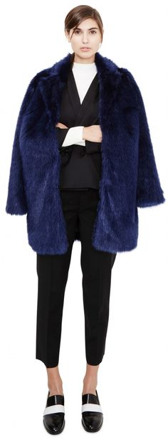 Love the royal blue faux fur. Time to get over my inhibitions about fur, perhaps? Marian, Medieval Blue | Won Hundred