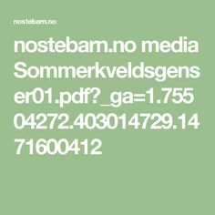nostebarn.no media Sommerkveldsgenser01.pdf?_ga=1.75504272.403014729.1471600412
