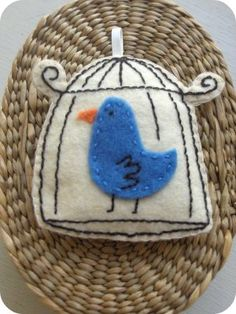 Felt Bird Cage Ornament