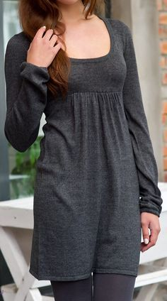 Grey tunic with long sleeves