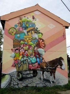 Street art by Alapinta Crew