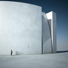 Michele Durazzi | Witness | minimalist architectural 3D Rendering.