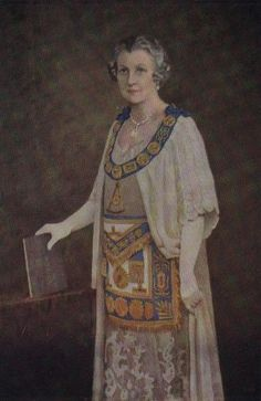 Grand Master M.W. Bro. Lucy Bertran O'Hea, CBE, The Lady Markham, Initiated Lodge Harnoby No. 4 and First Master of Lodge Mercury No.11. Remained in Office until 1948 - http://www.brad.ac.uk/webofhiram/?section=order_women_freemasons&page=traditional_history.html