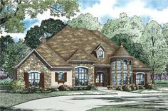 Tuscan Home Plans love floor plan! Would make part of the garage into a game room and the formal dining into an office