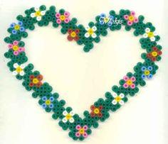 Herz Bügelperlen/ Heart perler beads