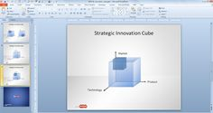 3D Cube for Innovation Cube PowerPoint presentations