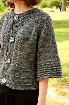 Scarlett ' s cardi stricken Muster von annie riley Strickmuster loveknitting. Free Knitting, Baby Knitting, Knitting Sweaters, Knitting Patterns, Crochet Patterns, Knitting Ideas, Bolero Pattern, Knit Vest Pattern, Grey Gloves