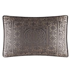 Warwick Boudoir Decorative Throw Pillow (Warwick, 15x20, Mink), Brown, Size Specialty (Polyester, Damask)