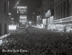 "Image result for ""free"" picture of NY times square new years celebration in ""1946"""