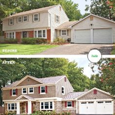 Exterior transformation featured in BHG This is similar to our house.  BHG, please come do this to our house!