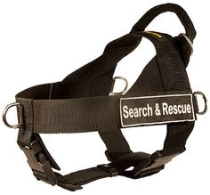 search and rescue dog harness, adjustable DE