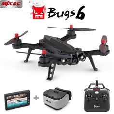 Cheap drones Buy Quality drones with camera hd directly from China drone with Suppliers: MJX Bugs 6 RC Drone Brushless Motor Racing Drone with HD Camera FPV Quadcopter Helicopter VS BUGS 3 SYMA pro Bugs, Drone With Hd Camera, Remote Control Drone, Flying Drones, Drone For Sale, Rc Helicopter, Rc Drone, Drone Photography, Shopping