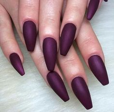This Purple nail color Pinterest: @JENNY