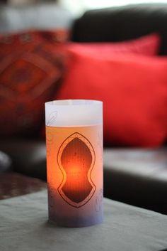 Downloadable vase wrap designed by Peter Gould  www.peter-gould.com/ for Ramadan Joy.