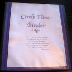 Circle Time Binders Updated for 2012-2013 | Simply Convivial