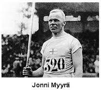 Jonni Myyrä olympisk guldmedaljörer i spjutkastning 1920 i Antwerpen och 1924 i Paris.