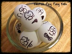 Debbie's Spanish Learning: Teaching Emotions with Ping Pong Balls. This lesson is written for teaching English speakers the words for emotions in Spanish, but would be a great activity for practicing emotion words in English with newcomer ELLs. High School Spanish, Elementary Spanish, Spanish Teacher, Spanish 1, Emotions Game, Teaching Emotions, Feelings And Emotions, Spanish Classroom Activities, Spanish Teaching Resources