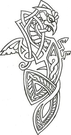 Cockatrice Heraldry by – Norse Mythology-Vikings-Tattoo Norse Tattoo, Celtic Tattoos, Viking Tattoos, Wiccan Tattoos, Inca Tattoo, Indian Tattoos, Symbol Tattoos, Samoan Tattoo, Polynesian Tattoos