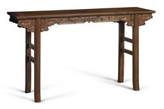 A 'HUANGHUALI' RECESSED-LEG TABLE  QING DYNASTY, 18TH / 19TH CENTURY