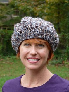 Ladies Blue Knit Beret Style Hat by lovemyknits on Etsy, $15.00 Love the hat and the lady that makes them!!