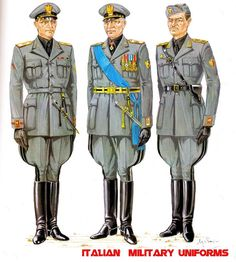 Tall Boots In Art: Italian Military Uniforms of WW2