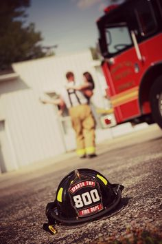 Firefighting engagement picture, this on I adorable too!
