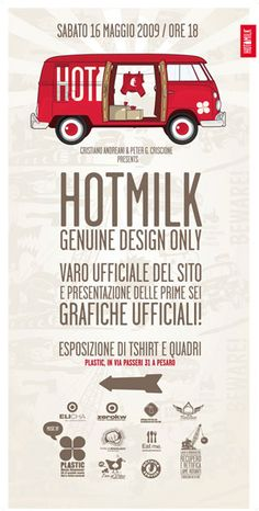 Poster, hotmilk. AD Hotmilk garage, Pesaro. Italy.