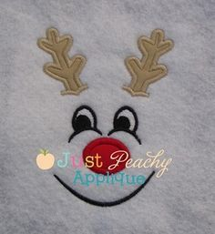 Reindeer Face Boy Applique Design
