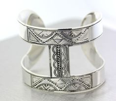 Vintage Hermes Touareg Sterling Silver Ano Cuff. A rare stunner....