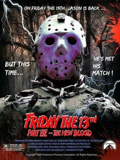 Friday the 13th 7 The New Blood - Jason Cover-Poster Art design cool find